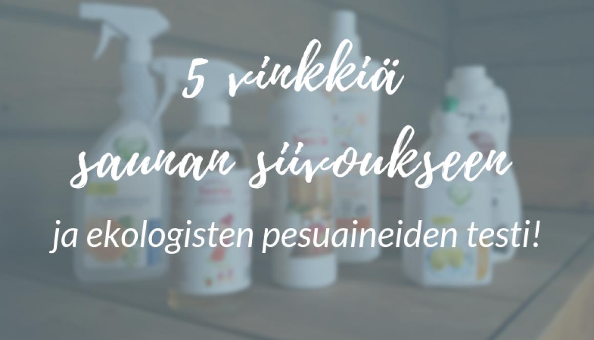 5 vinkkiä saunan siivoukseen ja ekologisten pesuaineiden testi!